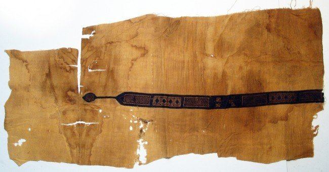 A Coptic textile panel with embroidered strip, Egypt
