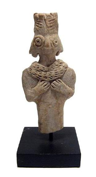 A nice Near Eastern terracotta figure of Astarte