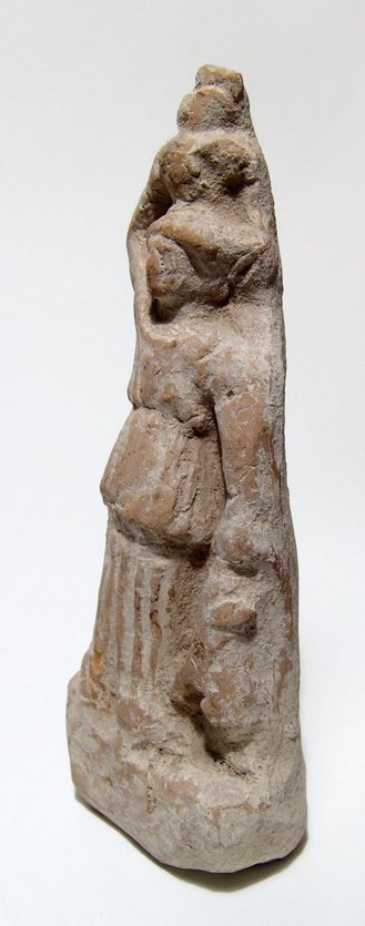 A Roman terracotta figure of a woman with hare and jar - 2