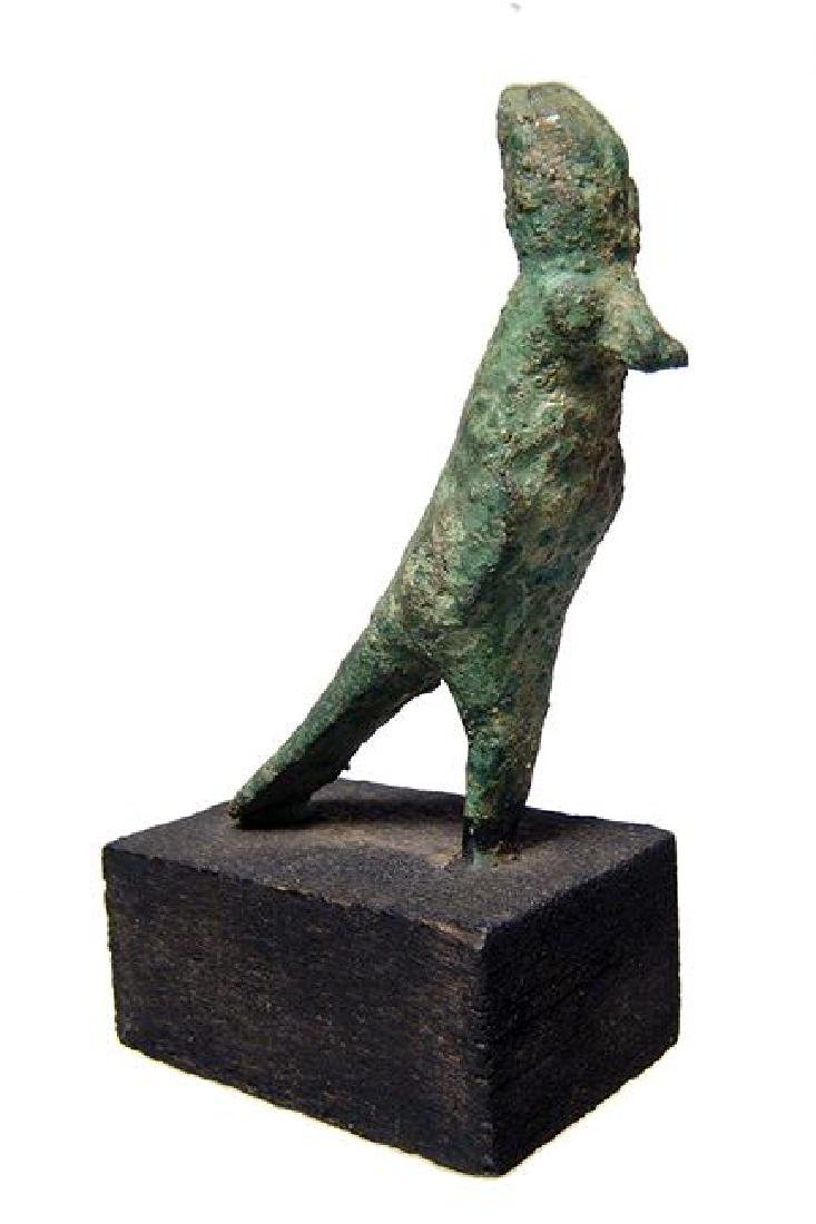 An Egyptian bronze figure of Horus, Late Period