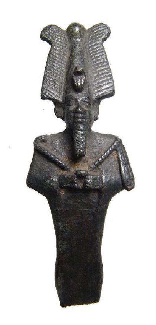 A beautifully detailed Egyptian bronze partial Osiris