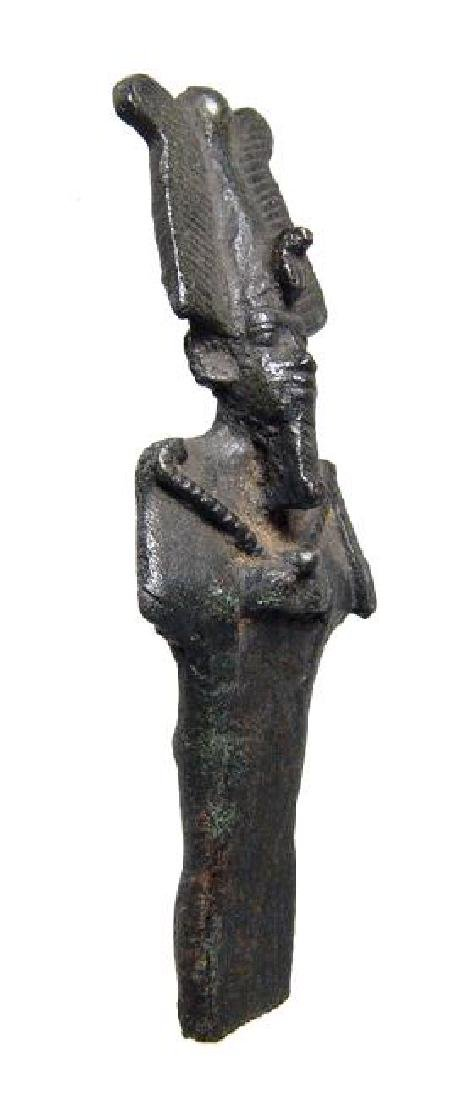 A beautifully detailed Egyptian bronze partial Osiris - 2
