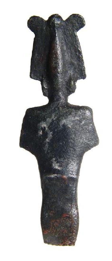 A beautifully detailed Egyptian bronze partial Osiris - 3