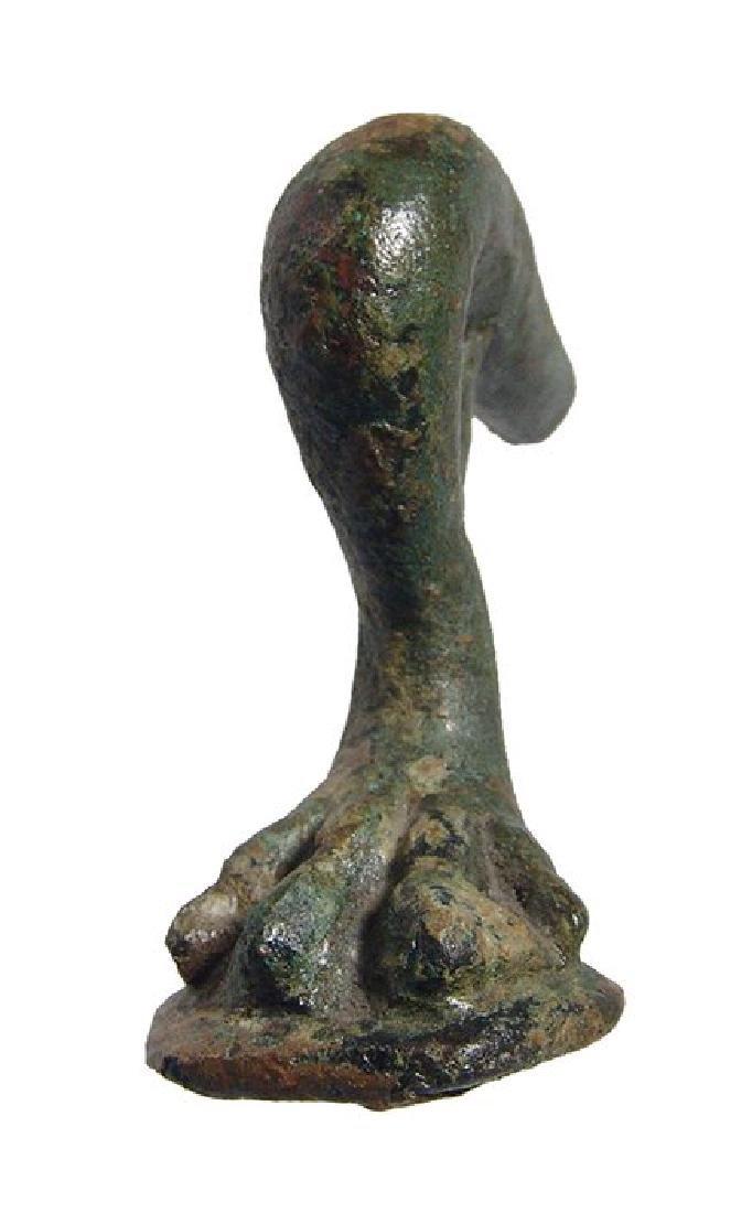 Hellenistic/Roman bronze lion's paw candelabrum foot - 2