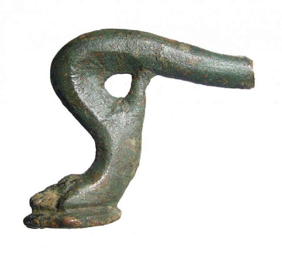 Hellenistic/Roman bronze lion's paw candelabrum foot - 3