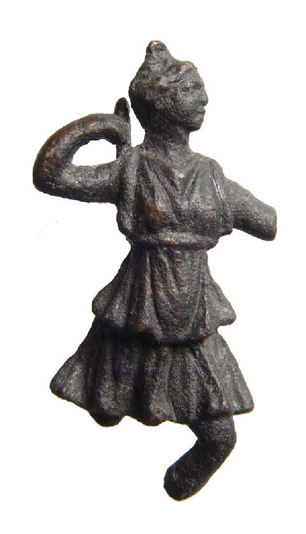 A lovely Roman bronze figurine of Diana - 2