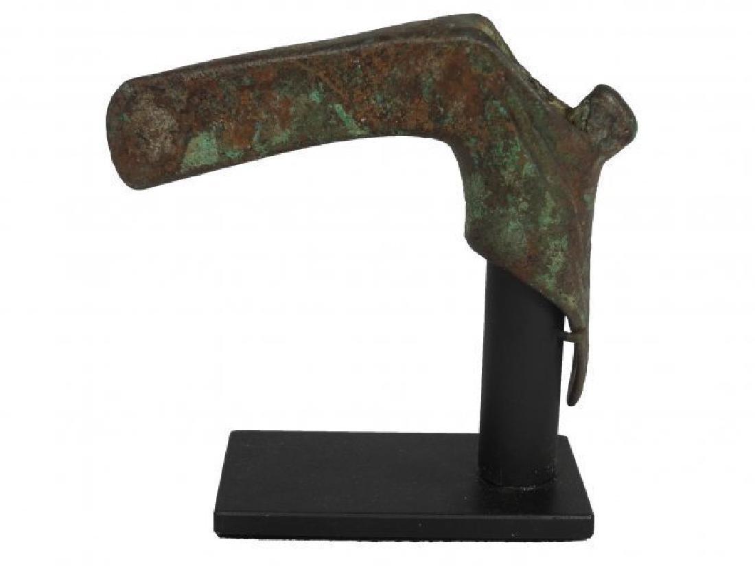 A Near Eastern bronze zoomorphic adze