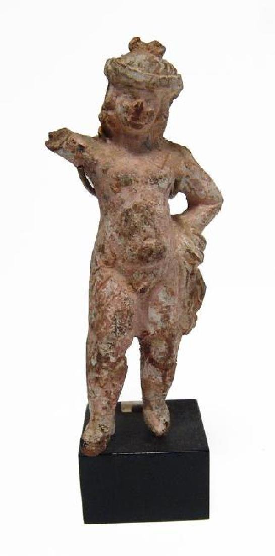 A lovely Greek painted terracotta figurine of an Erote - 3