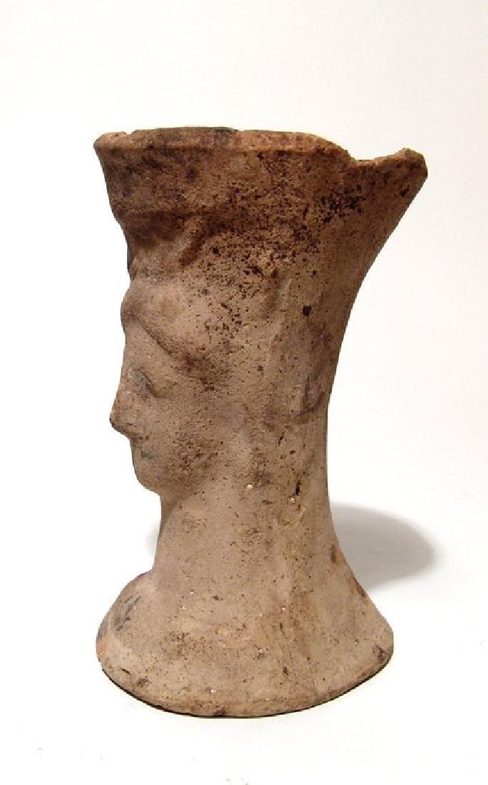 A Greek sprinkler vessel in form of female bust - 2