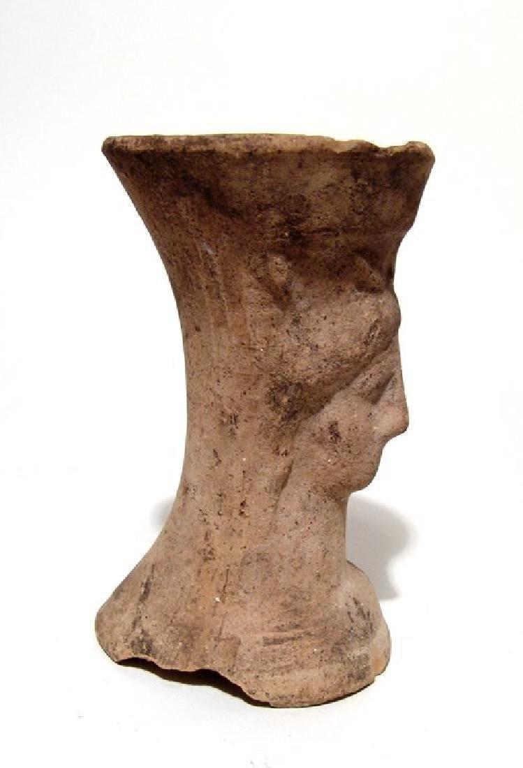 A Greek sprinkler vessel in form of female bust - 3