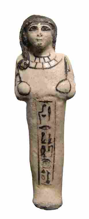 Egyptian New Kingdom Ramesside faience ushabti