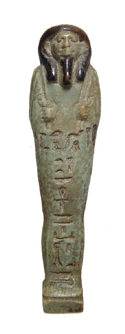 A choice Egyptian bicolor faience ushabti