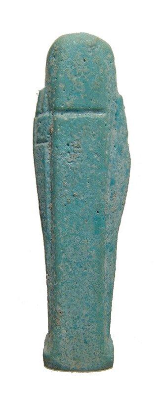 Attractive miniature Egyptian light blue glazed ushabti - 3