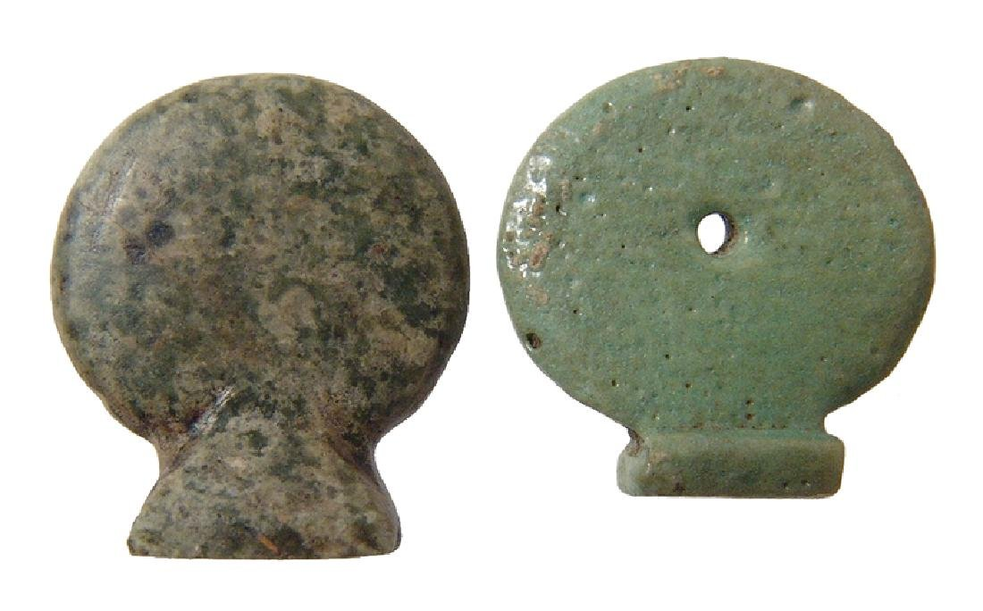 Egyptian solar disk amulets, Late Period - Ptolemaic - 2