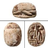 An Egyptian steatite scarab, Ramesside