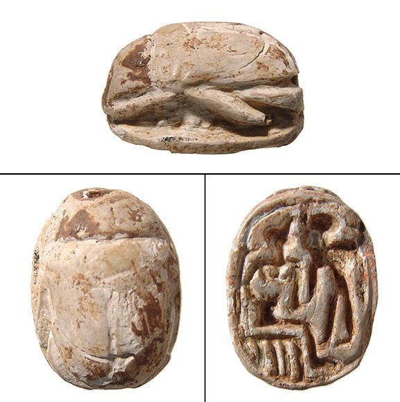 An Egyptian steatite scarab, Ramesside