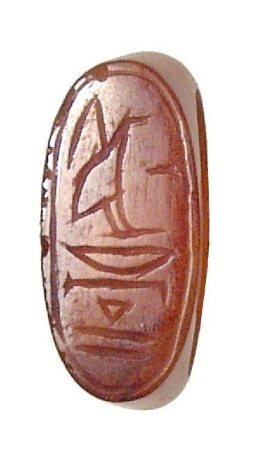 A lovely Egyptian carnelian ring, New Kingdom