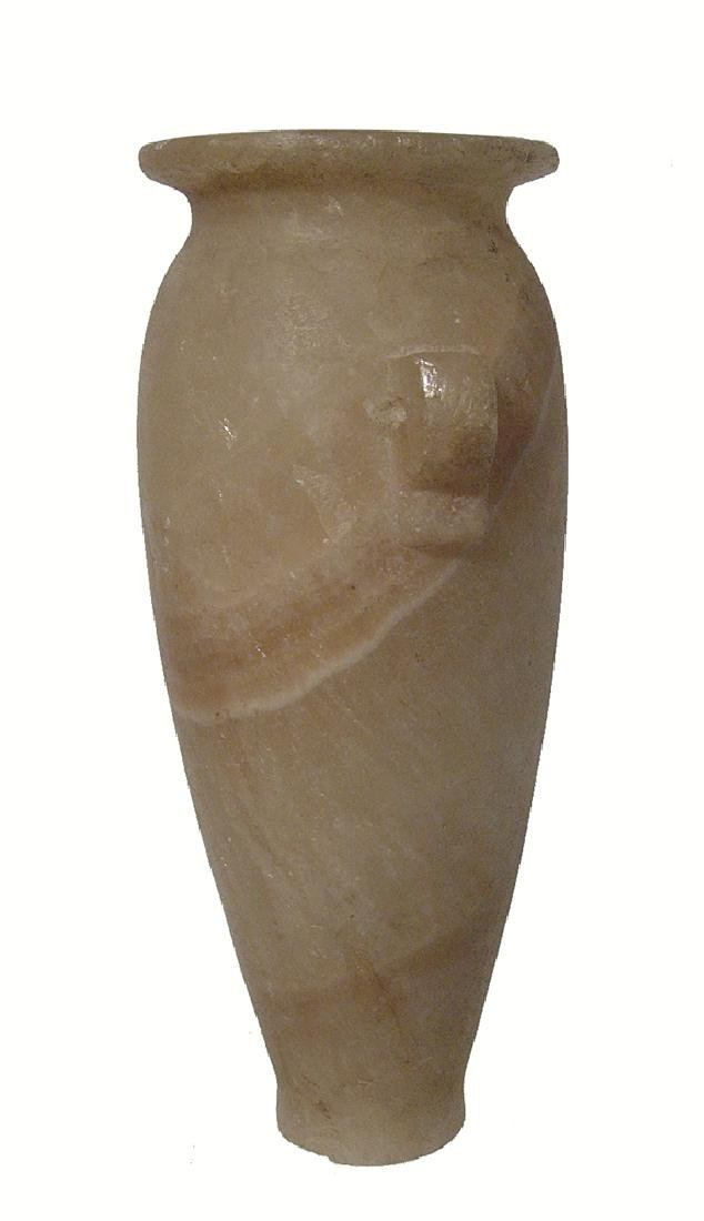 A beautiful Egyptian tapering alabaster jar, Ptolemaic - 2