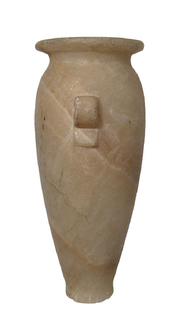 A beautiful Egyptian tapering alabaster jar, Ptolemaic - 4
