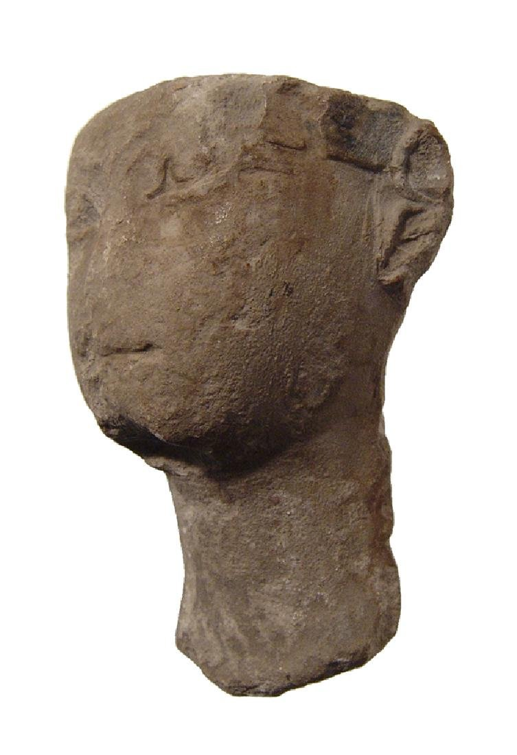 Egyptian limestone head of Pharaoh, Late Period - 3