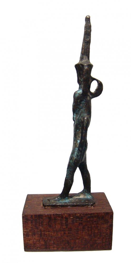 Large Egyptian bronze figure of Nefertum, Late Period - 3