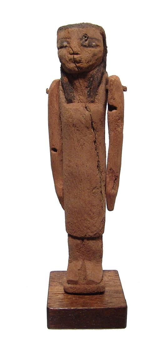 Egyptian wooden figure of a woman, Late Period