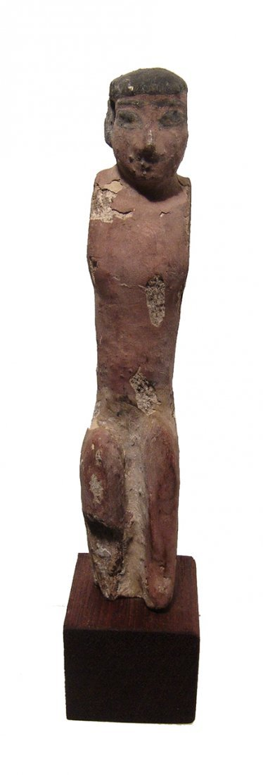 A nice Egyptian wooden figure, Middle Kingdom - 2