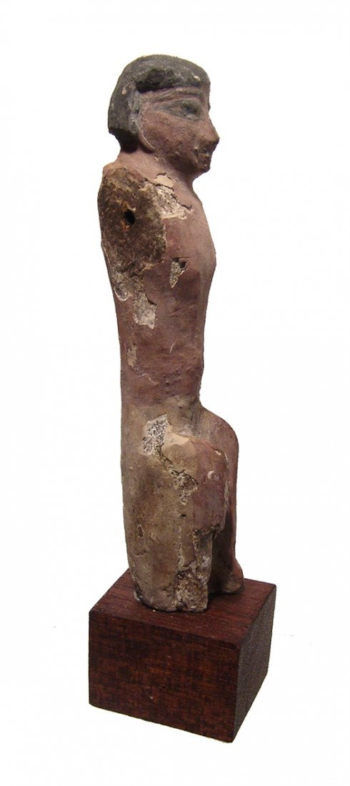 A nice Egyptian wooden figure, Middle Kingdom - 4