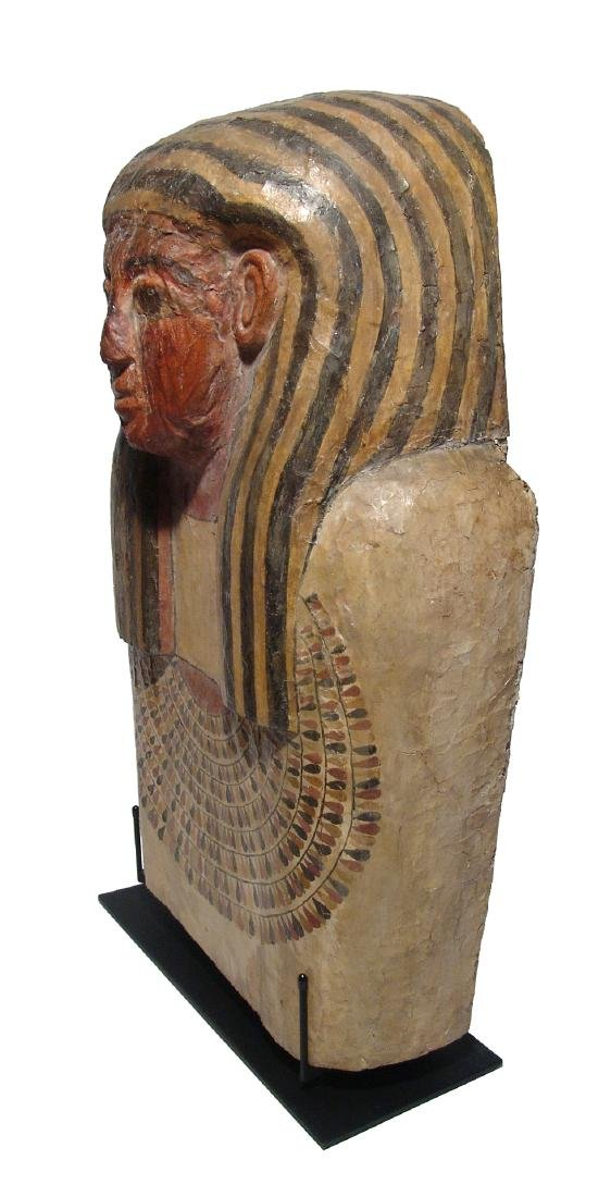 A stunning upper portion of an Egyptian sarcophagus lid - 5
