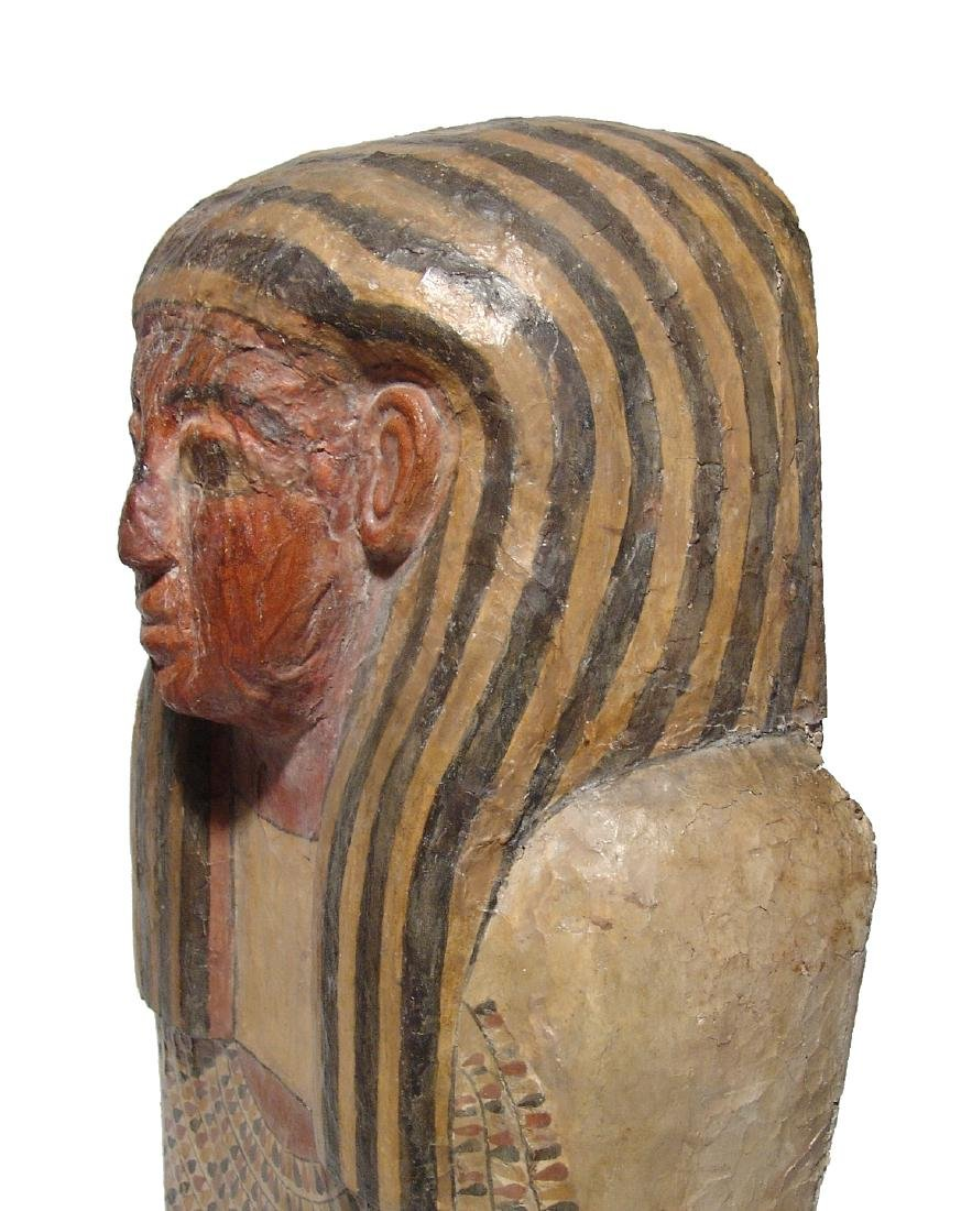 A stunning upper portion of an Egyptian sarcophagus lid - 6