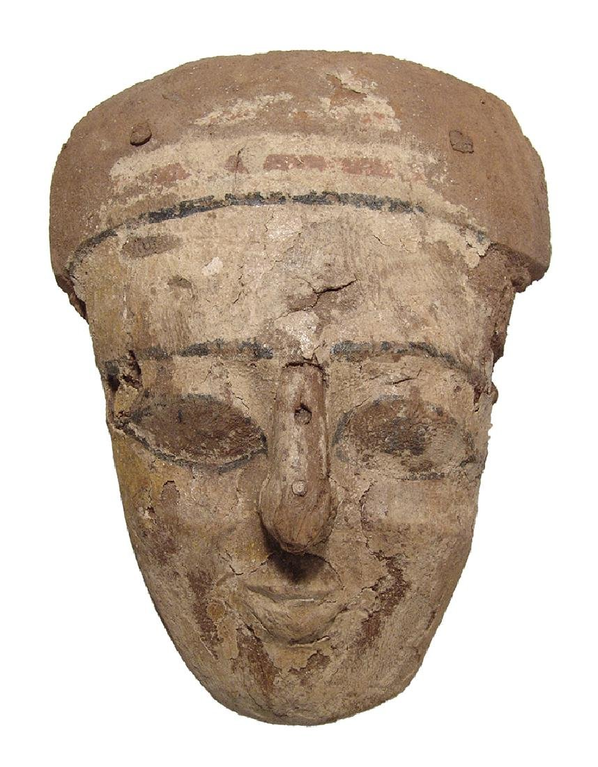 Egyptian painted wood 'mummy' mask, Late Period
