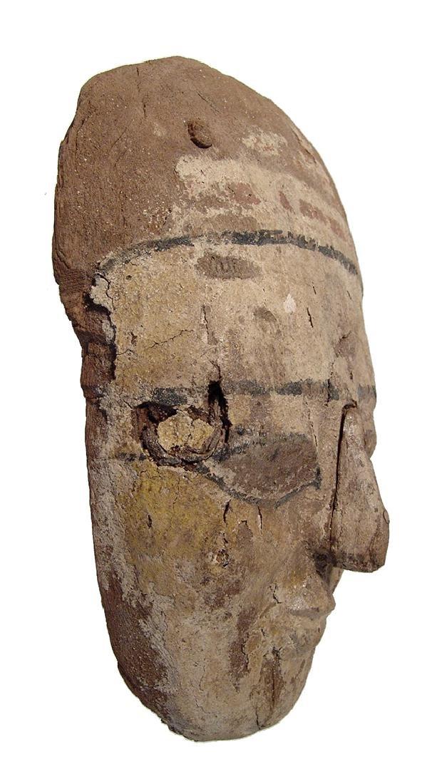 Egyptian painted wood 'mummy' mask, Late Period - 2