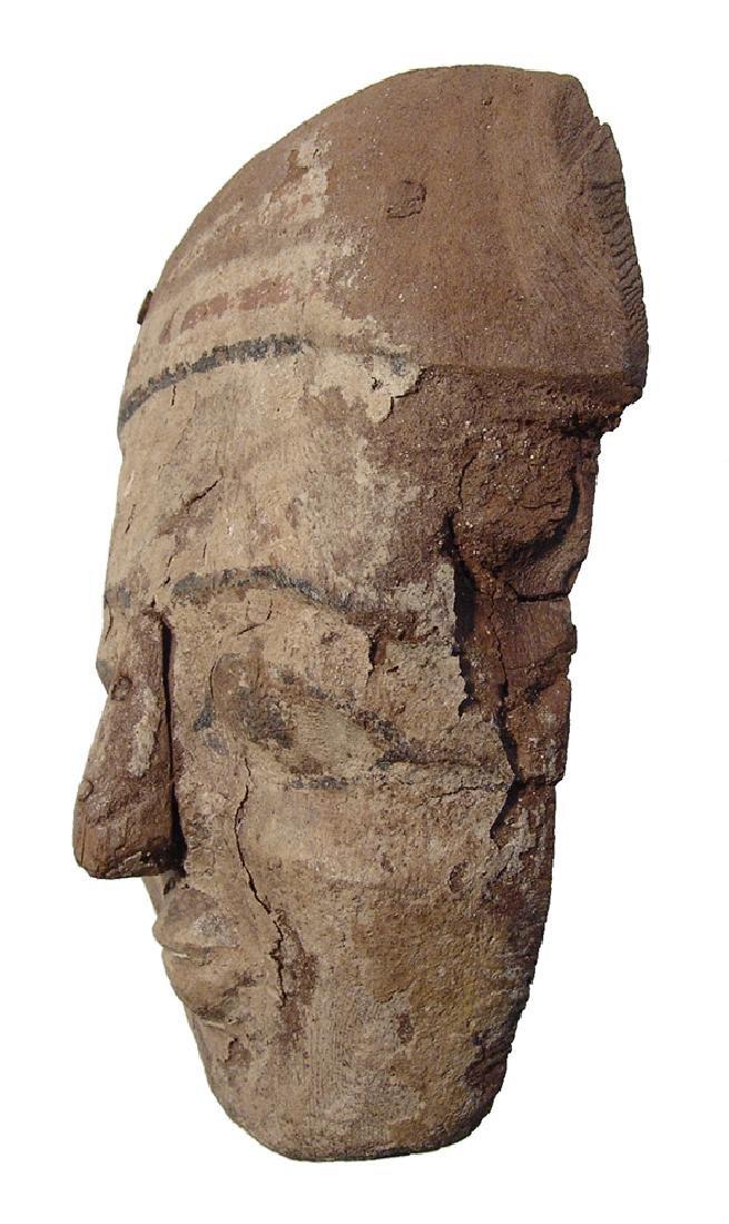 Egyptian painted wood 'mummy' mask, Late Period - 3