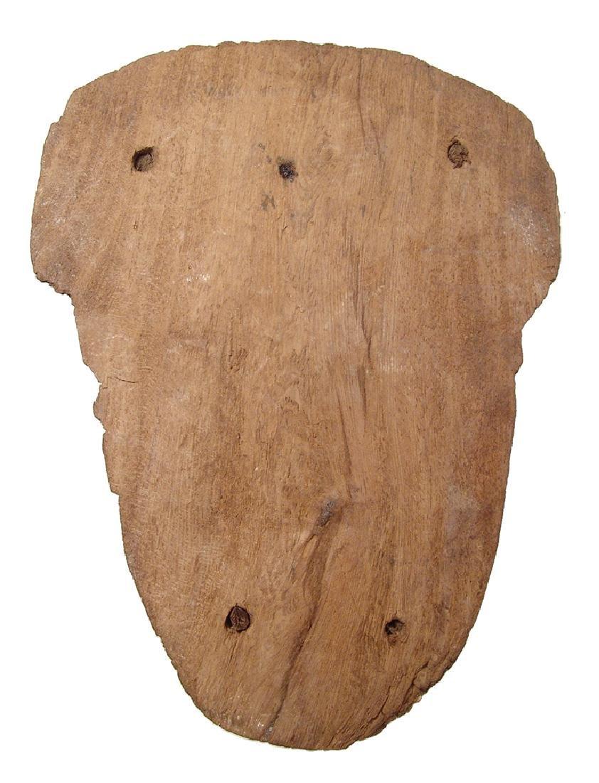 Egyptian painted wood 'mummy' mask, Late Period - 4
