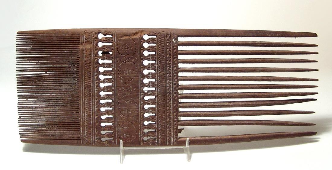 A large Coptic Egyptian wood comb