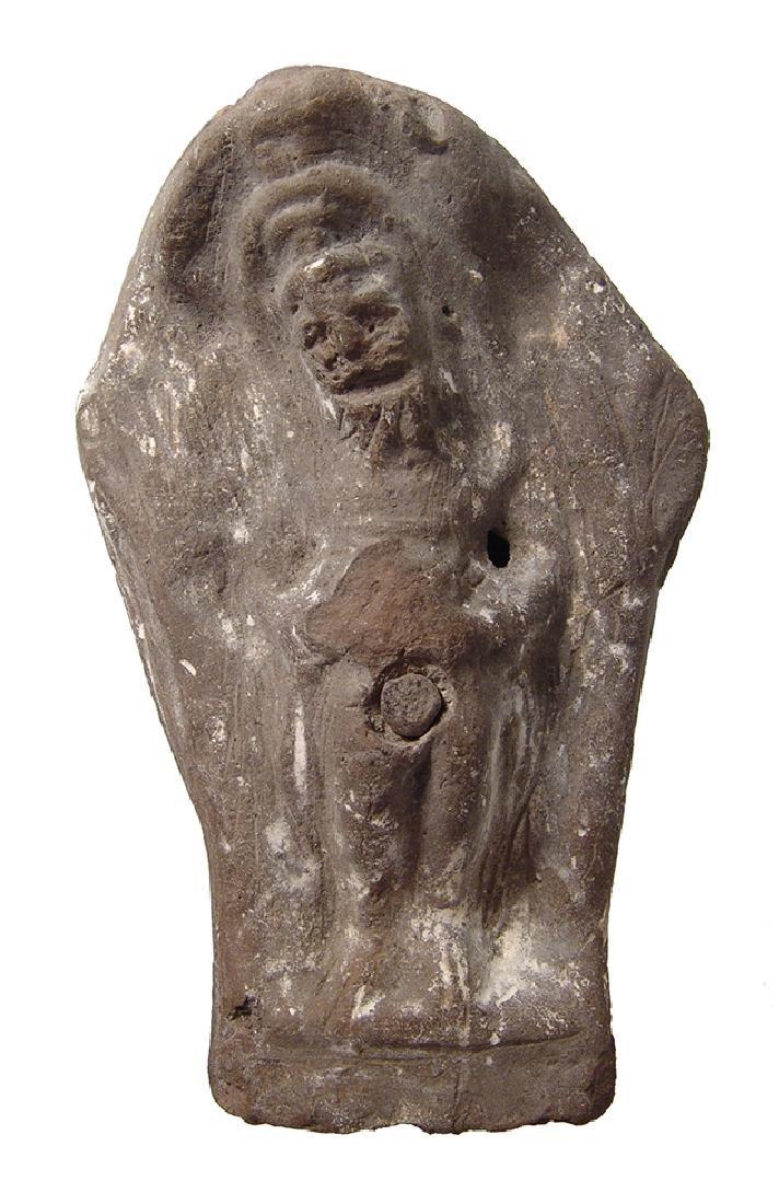 Romano-Egyptian terracotta figure of Priapos