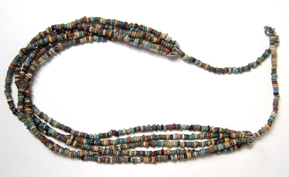 An Egyptian faience beaded necklace, Late Period