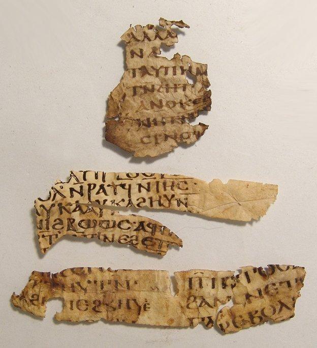 Important Coptic Biblical vellum fragment of Galatians
