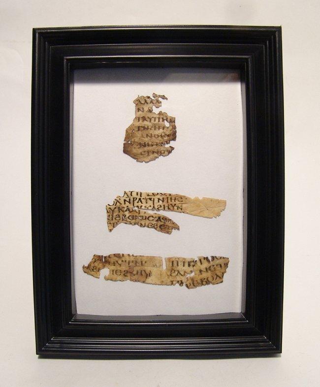 Important Coptic Biblical vellum fragment of Galatians - 3