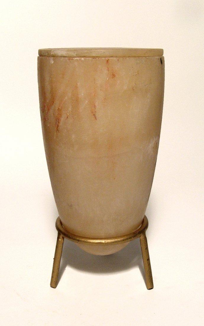 A choice Bronze Age lidded alabaster jar - 2