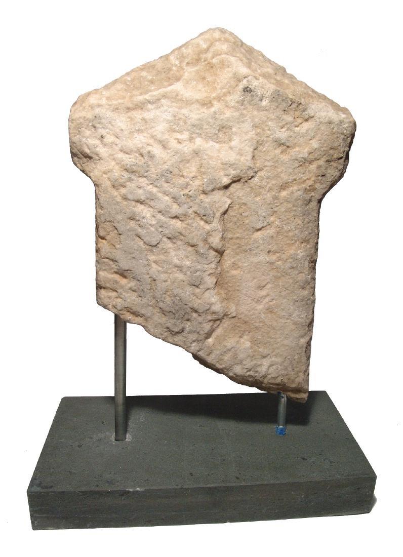 A fantastic Roman marble funerary stela - 4