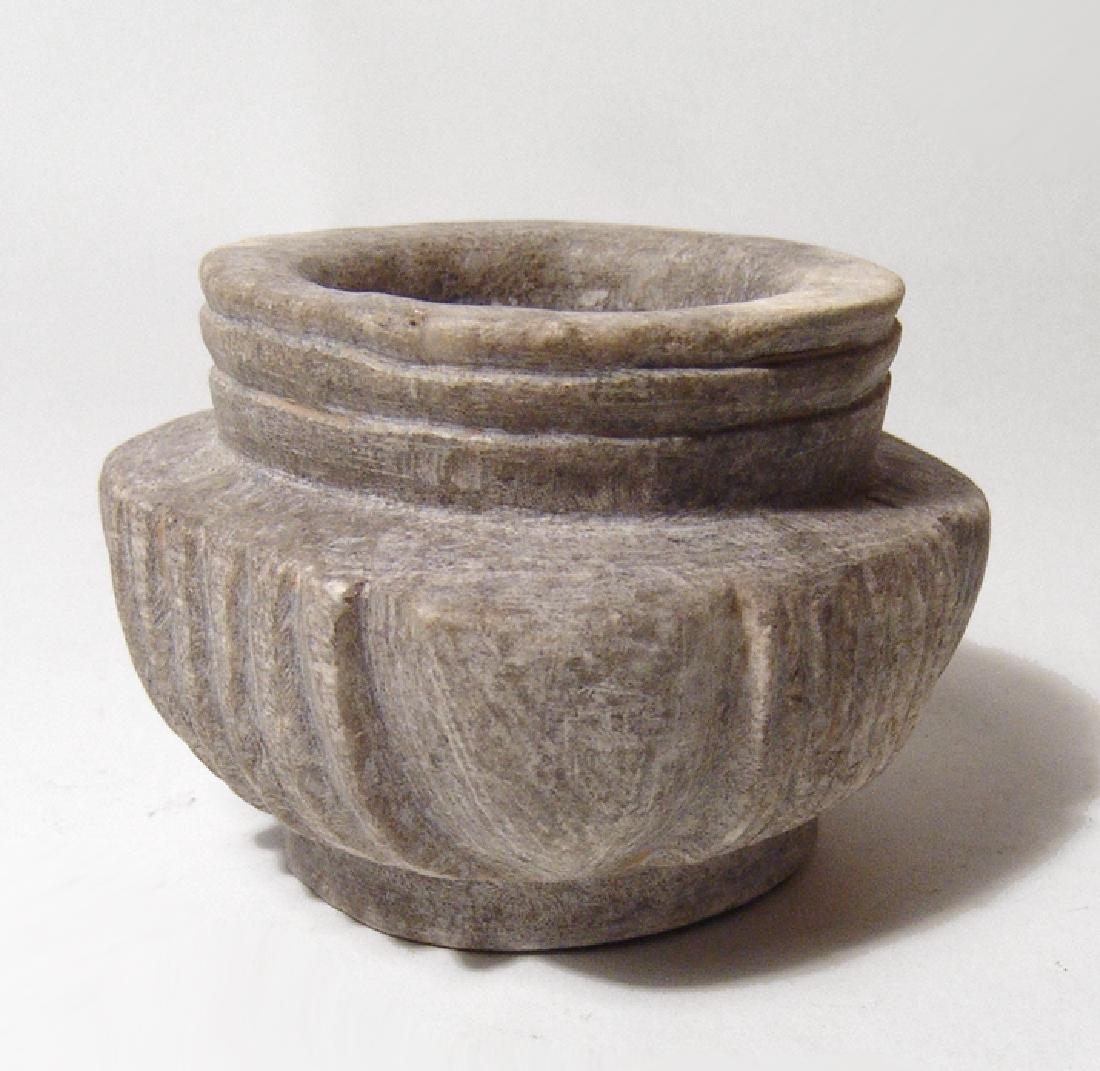 A nice Byzantine carved stone vessel