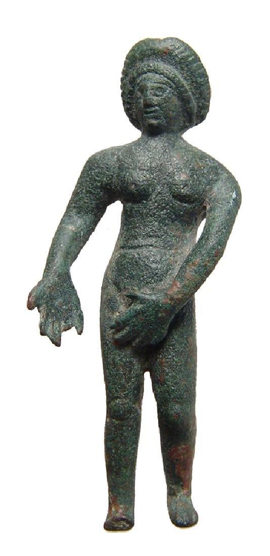 A Roman bronze figure of Venus Pudica