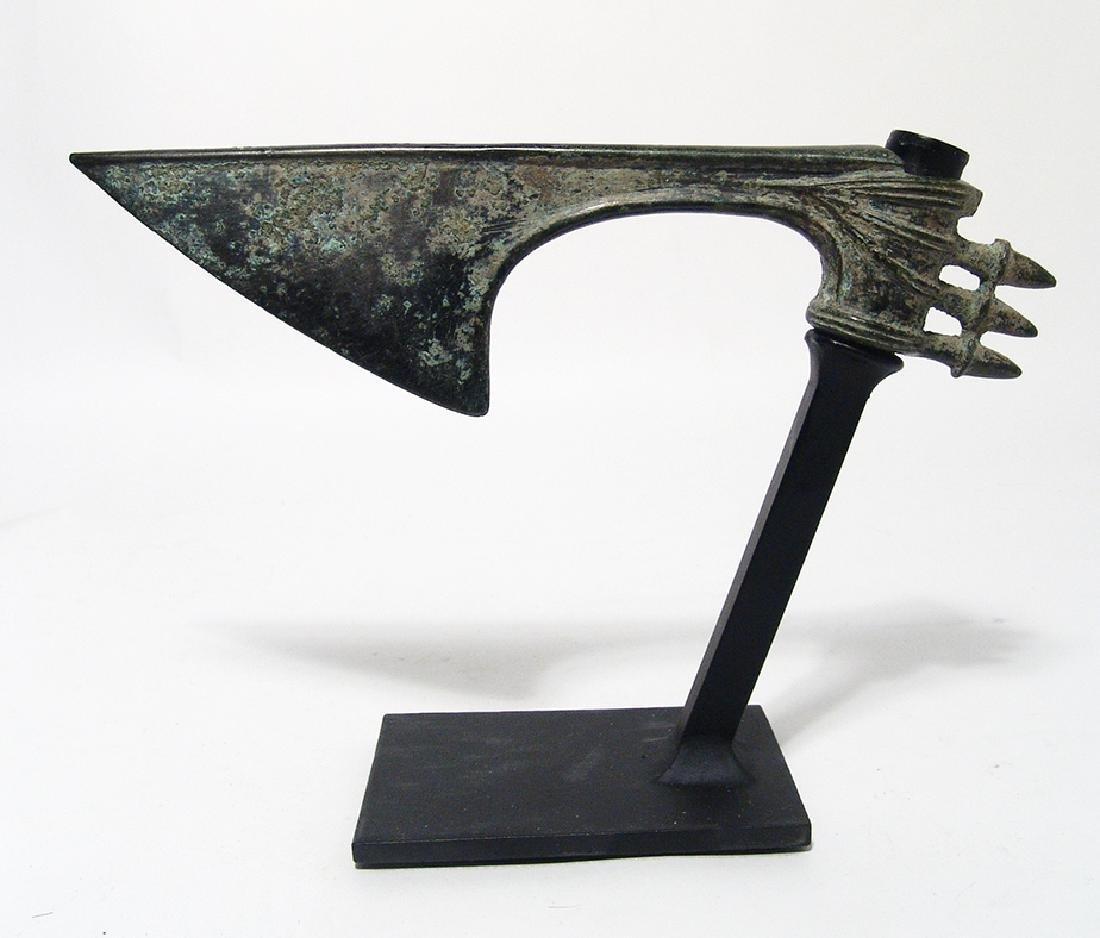 A choice Near Eastern bronze axe head