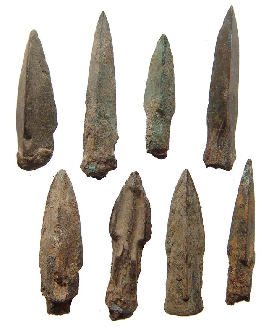 Chinese iron/bronze arrow/ballista points,Warring-Han