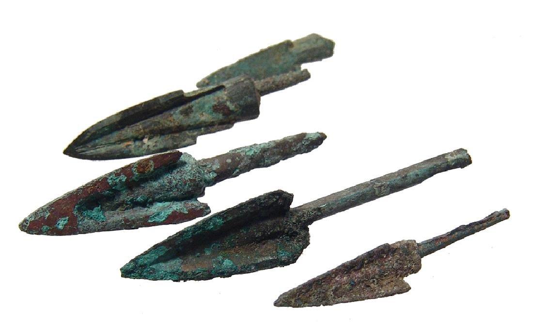 Chinese bronze arrow/ballista points, Warring to Han