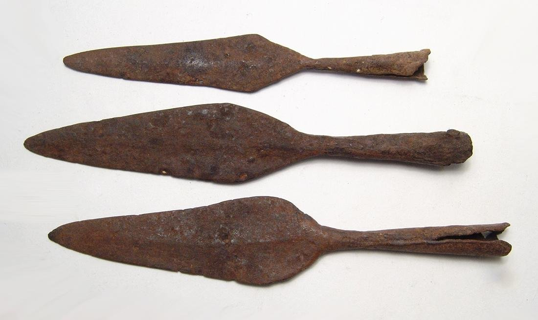 Chinese iron spear points, Liao to Qing Dynasty