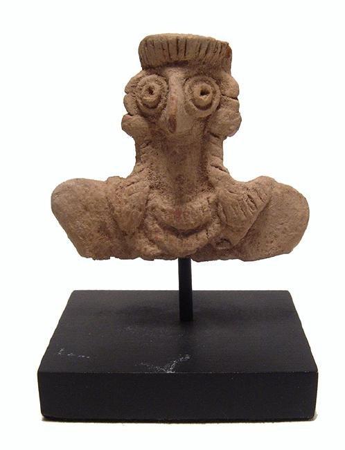 Nicely detailed Near Eastern terracotta bust of Astarte