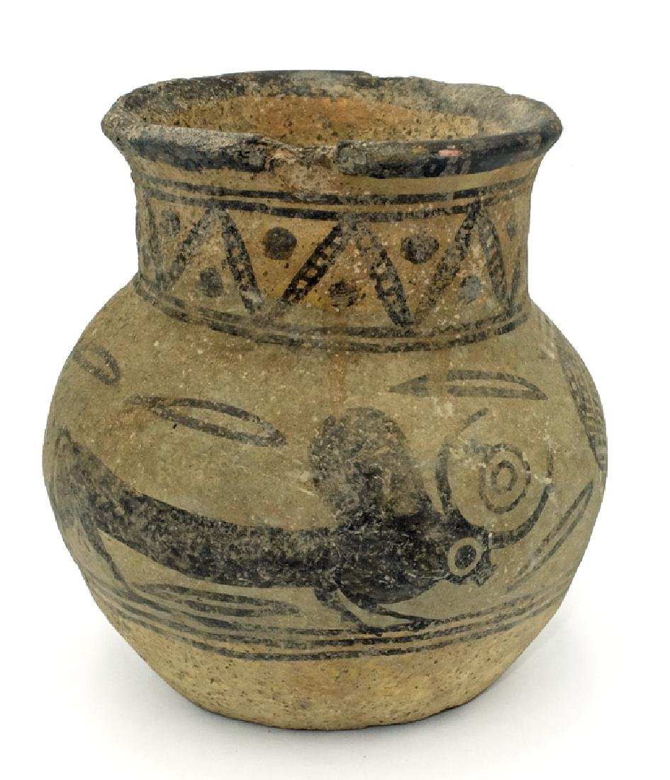 Rare example of a painted grey-ware vessel, Sonkh