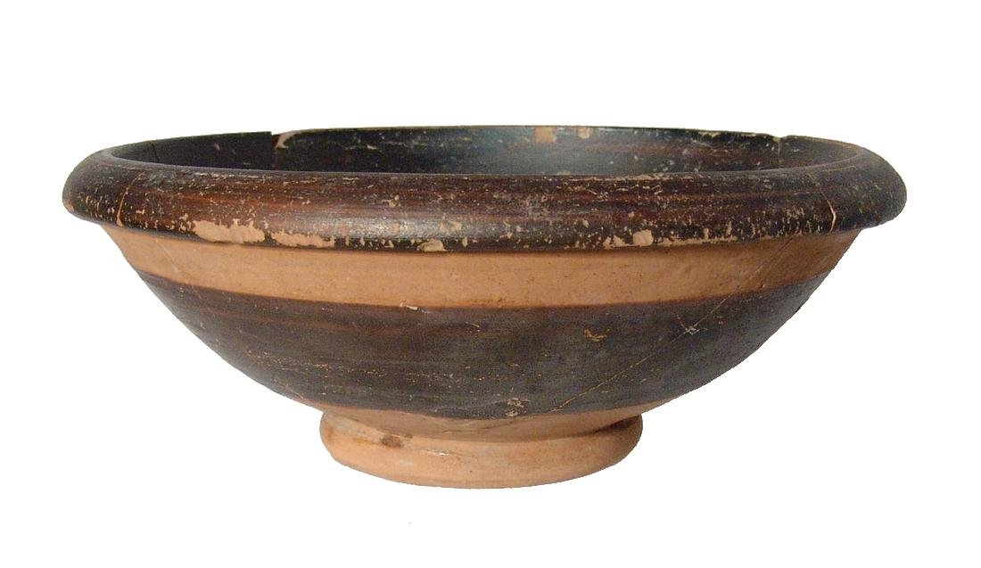 A Greek footed bowl with banding decoration